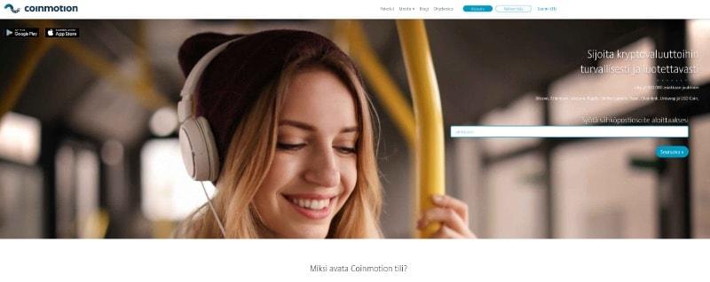 coinmotion homepage